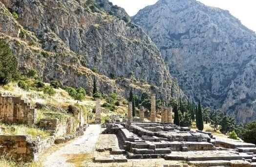grèce delphes ruines