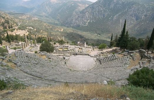 grece delphes theatre apollon