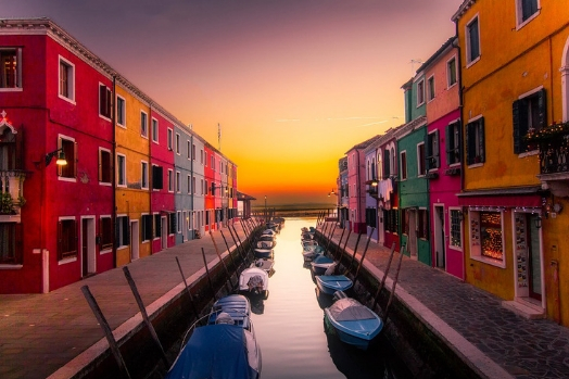 ile burano façade couleur italie