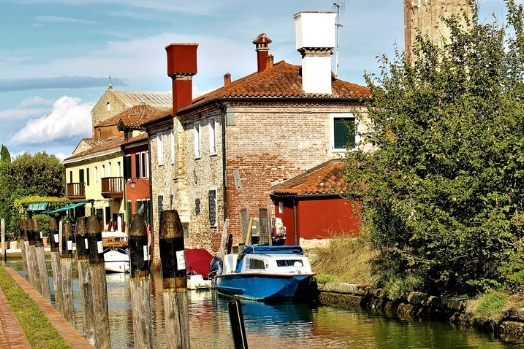 ile torcello canal italie