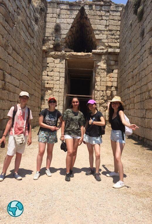 grece porte des lionnes archéologie