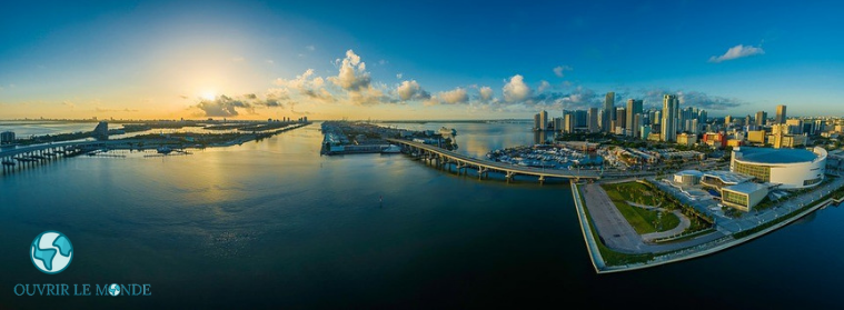 Vue panoramique de Miami-Colo CEI à Miami