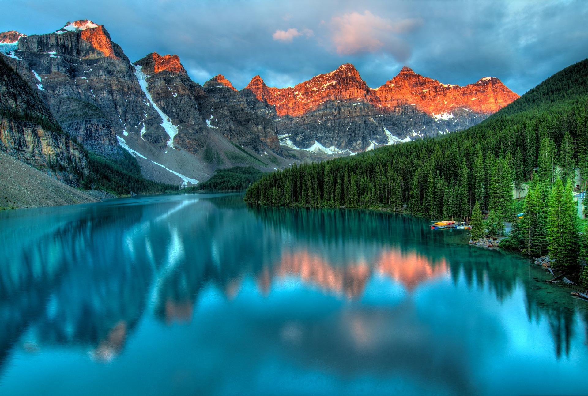 Travailler autrement au Canada-Le lac Moraine en Alberta