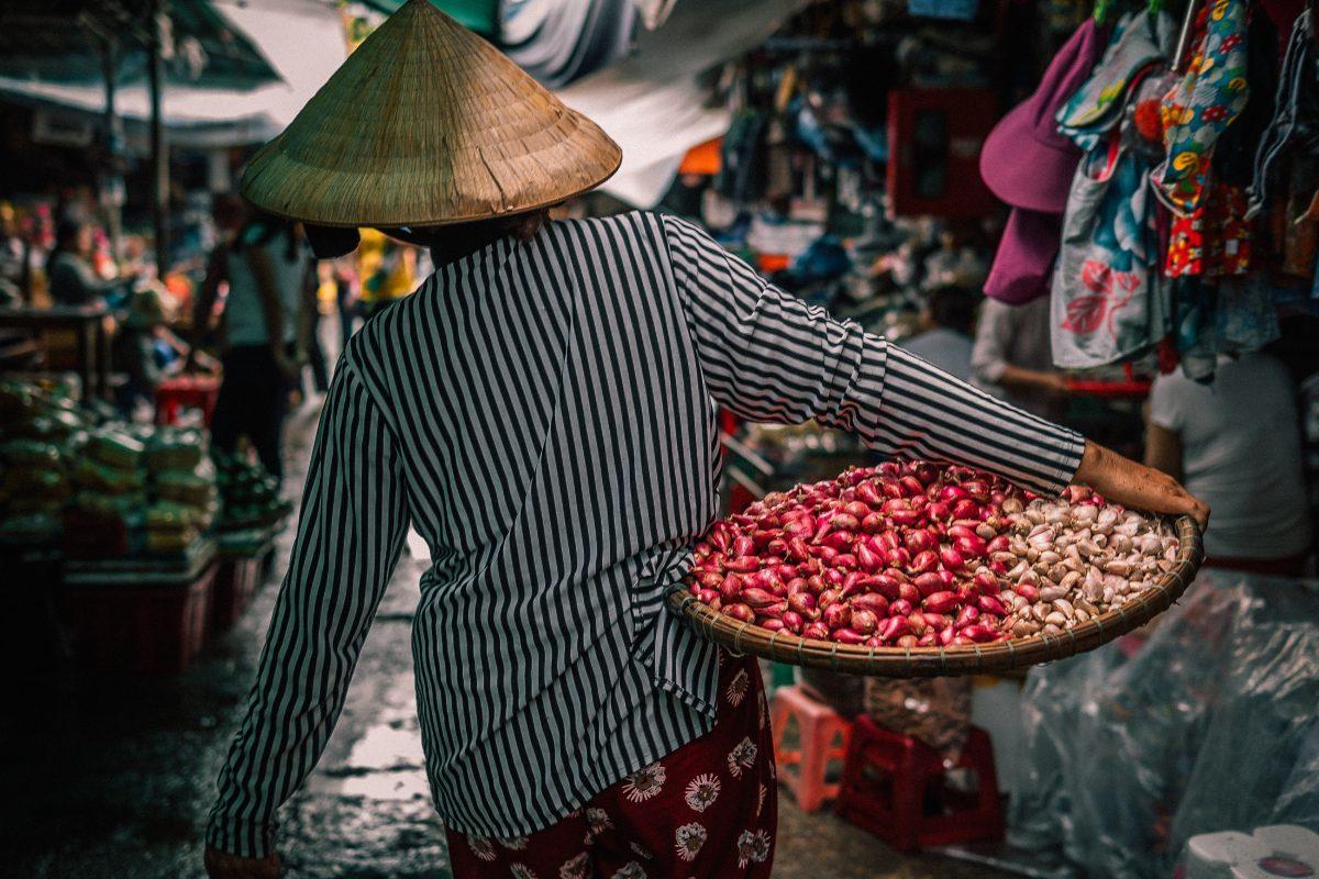 Marché en Asie