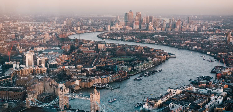 Vue aerienne de Londres