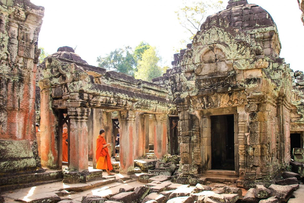 Rénovation des temples au Cambodge