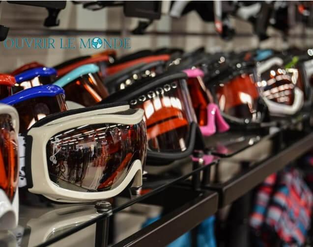 masque et lunette pour le ski