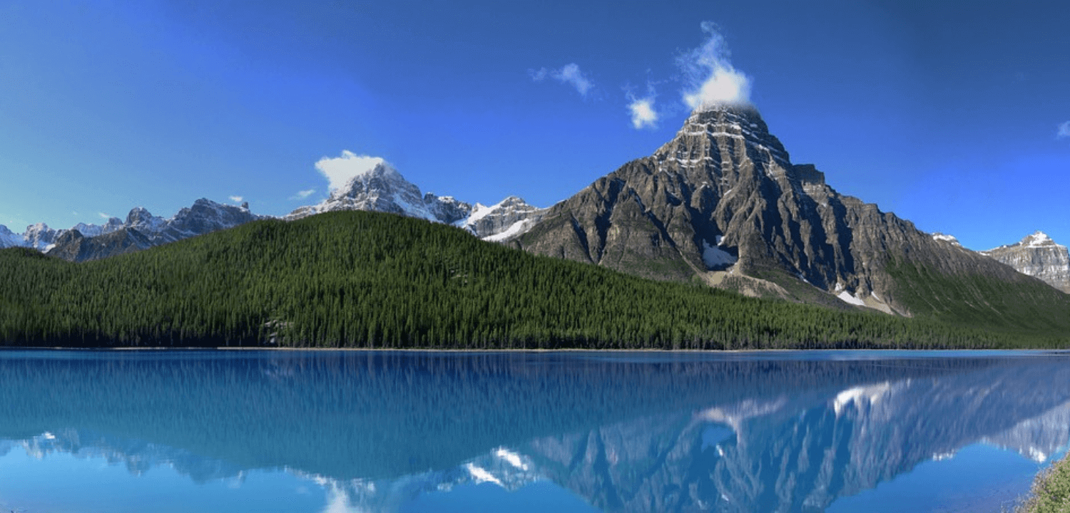 Canada, montagne, paysage