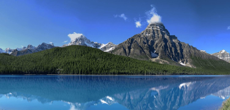 Canada, montagne, paysage