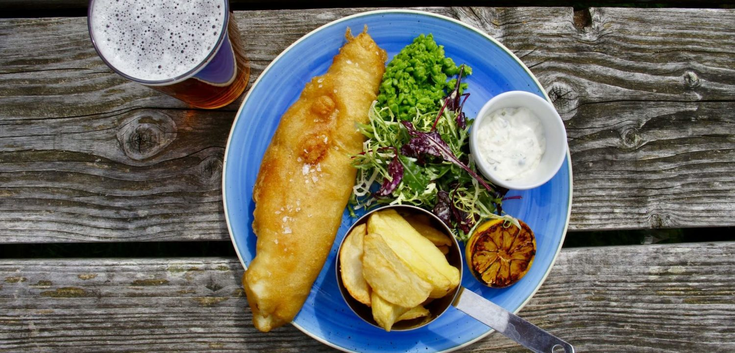 Plat de fish and chips