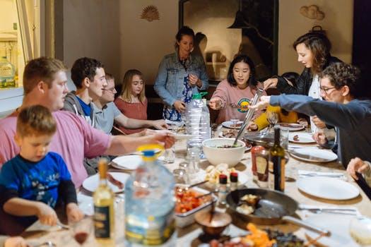 Repas famille Thanksgiving