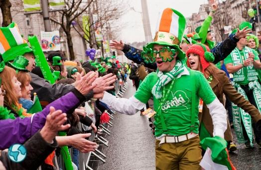 irlande parade monde fete