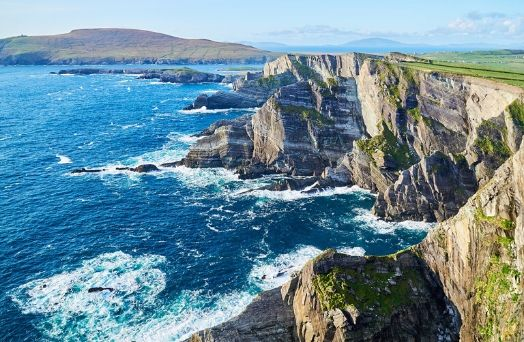 falaise irlande ocean